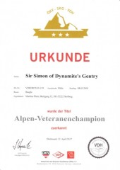 Alpen Veteranenchampion Int.Ch. Sir Simon of Dynamite s Gentry